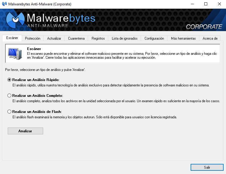 escaneo completo con antivirus